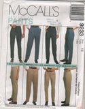 9233 Pattern McCall's Palmer Pletsch Perfect Fit Pants  sizes 10 or 12 or 18
