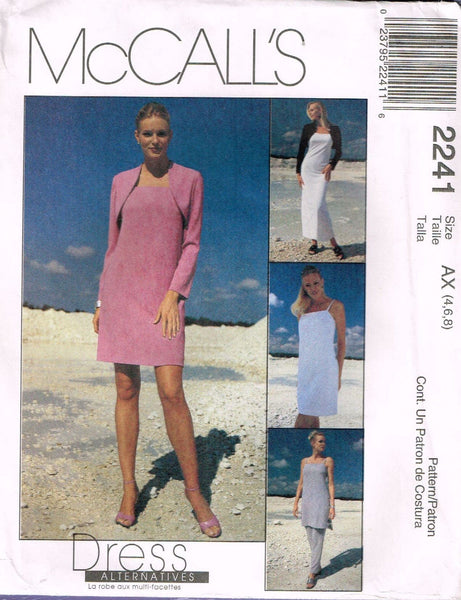 *2241 Sew Pattern Ladies Dress Tunic Top Pants Jacket 4-6-8 or 8-10-12 or 10-12-14