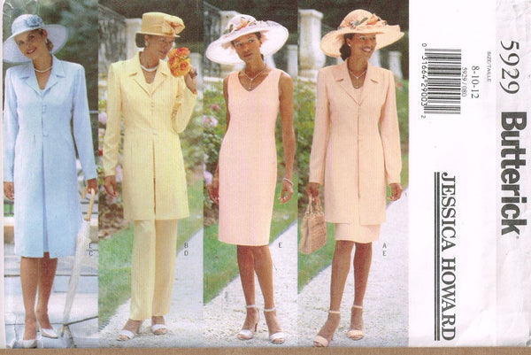"* 5929 Sewing Pattern Butterick Ladies ""Jessica Howard"" Dress Coat 8 10 12 +"