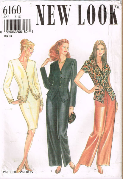 * 6160 Vintage Sewing Pattern Ladies Pants Skirt Jacket 8 10 12 14 16 18+