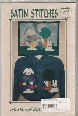 Sewing Pattern by Satin Stitches Easter Bunny Rabbit Wallhanger Applique Jacket