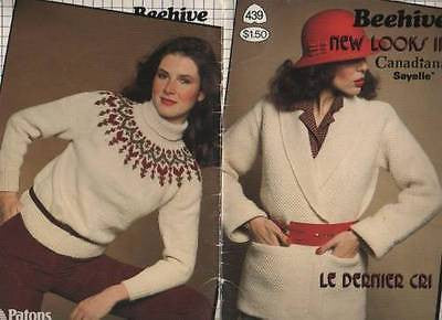 439 Beehive Vintage New Looks in Canadiana Knits Knitting Fair Isle Turtleneck
