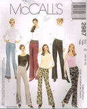 *2987 Sewing Pattern McCall's Ladies Bootleg Pants and Belt 10 12 14