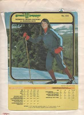 *115 Sewing Pattern Green Pepper Ski Jogging Suit 8 10 12 14 16