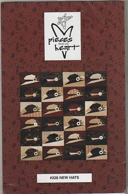 "Sewing Pattern by Pieces From My Heart ""New Hats"" Quilt Pattern"