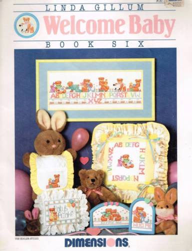 "*130 Cross Stitch Pattern Demensions ""Welcome Baby"" by Linda Gillum"
