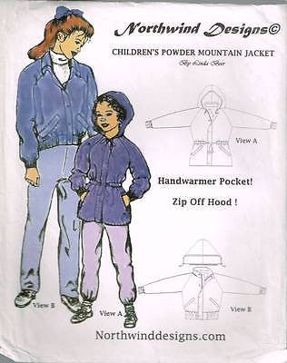 *1118 Sew Pattern North Wind Girls Raglan Sleeve Powder Jacket 2 4 6 8 10 12 14