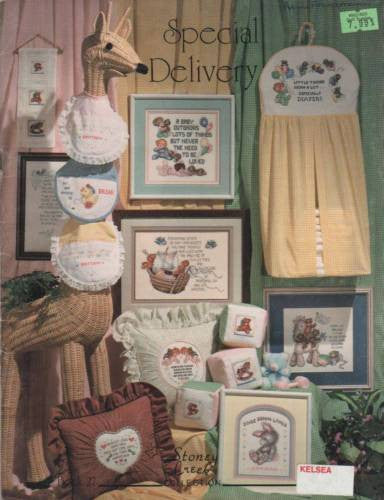 "*Cross Stitch Pattern Stoney Creek ""Special Delivery"" Baby Infant Cute"