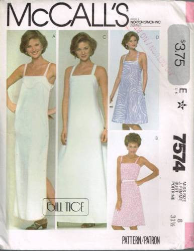 7574 Sewing Pattern Vintage McCall's Ladies Sundress or Nightgown 8