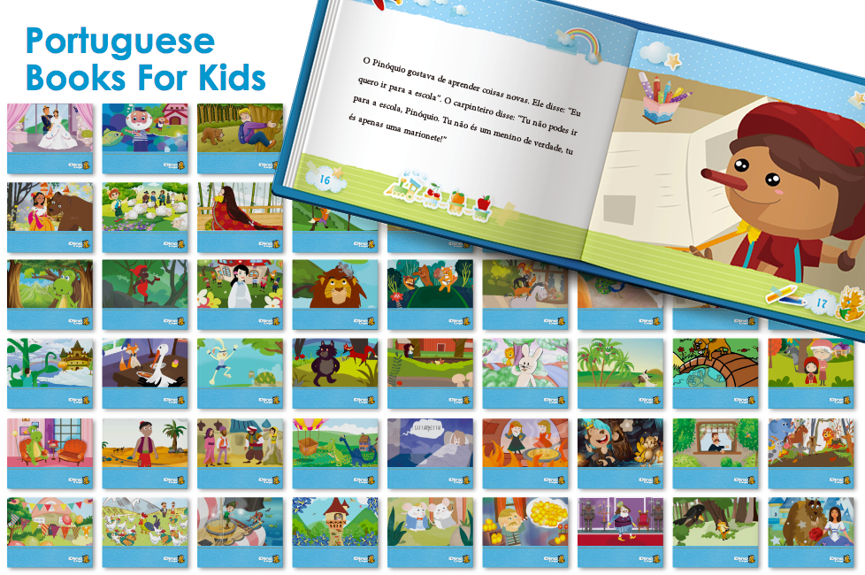 european-portuguese books 50 kids