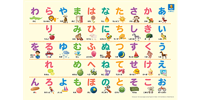 Japanese for kids premium set dino lingo store japanese alphabet poster thecheapjerseys Choice Image