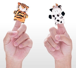 Add two little finger puppets - Dino Lingo Checkout