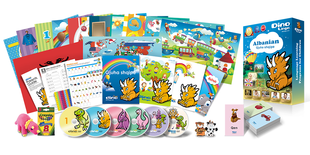 Albanian for kids Deluxe set