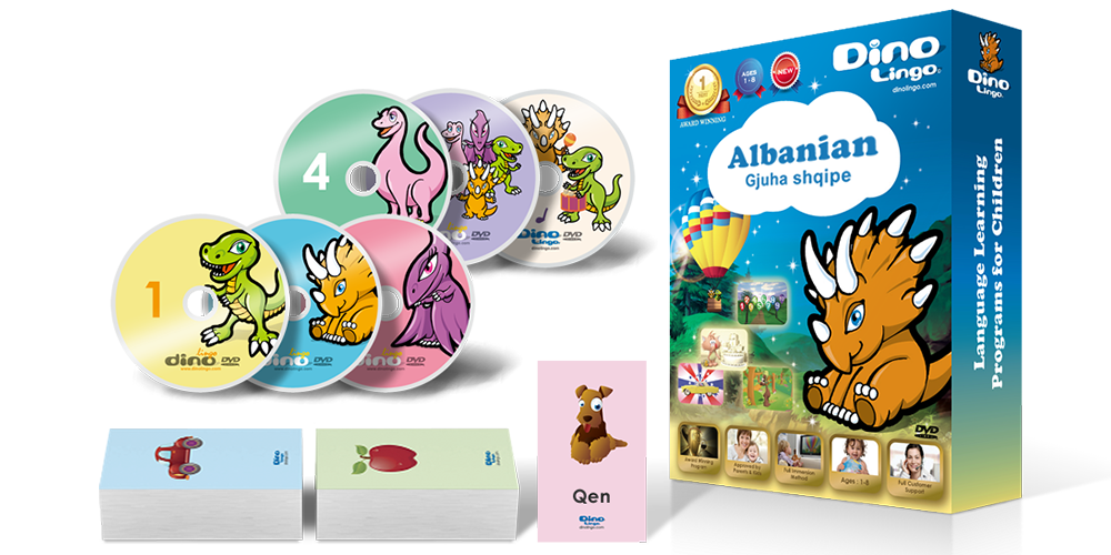 Albanian for kids Standard set - Dino Lingo Checkout