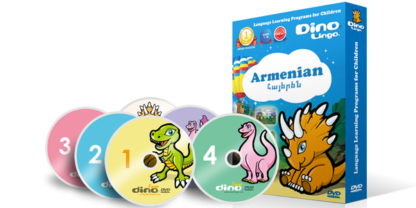 Armenian for kids DVD set - Dino Lingo Checkout