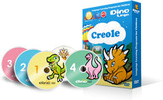 Creole for kids Standard Set - DVDs and Flashcards