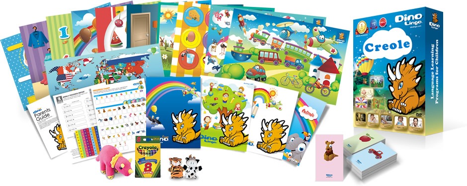 Creole for kids Print set - Dino Lingo Checkout