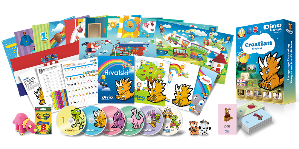 Croatian for kids Deluxe set - Dino Lingo Checkout