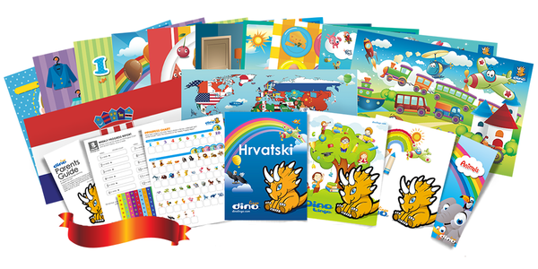 Croatian for kids Poster & Book set - Dino Lingo Checkout