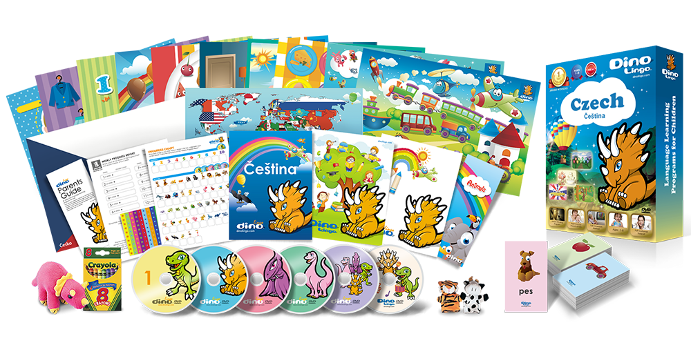 Czech for kids Deluxe set - Dino Lingo Checkout