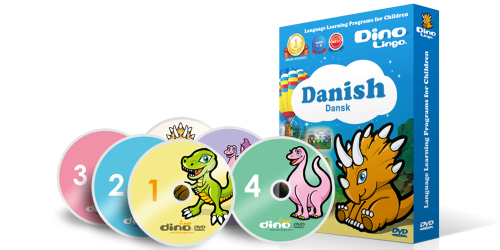 Danish for kids DVD set - Dino Lingo Checkout