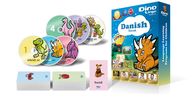 Danish for kids Standard set - Dino Lingo Checkout