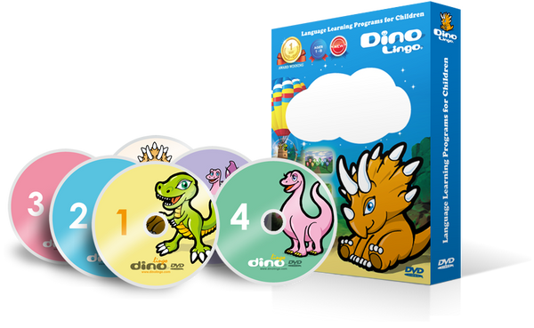 Add a DVD set (6 DVDs) - Dino Lingo Checkout