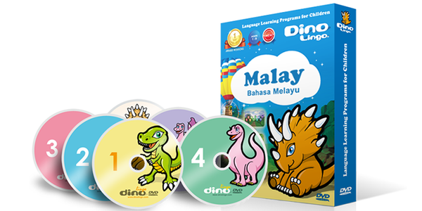 Malay for kids DVD set - Dino Lingo Checkout