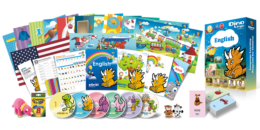 English for kids Deluxe set - Dino Lingo Checkout