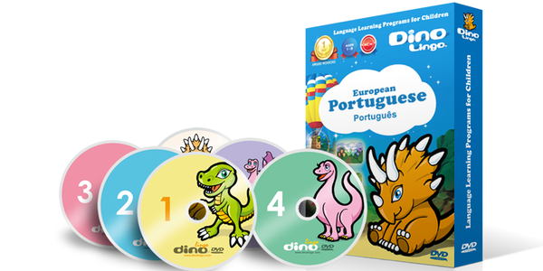 European Portuguese for kids DVD set - Dino Lingo Checkout