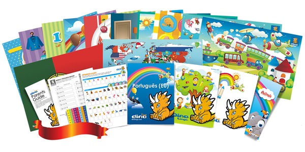 European Portuguese for kids Poster & Book set