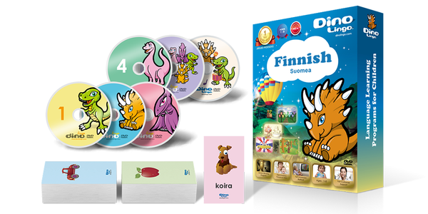 Finnish for kids Standard set - Dino Lingo Checkout