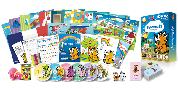 French for kids Deluxe set - Dino Lingo Checkout