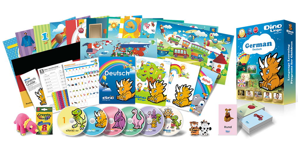 German for kids Deluxe set - Dino Lingo Checkout