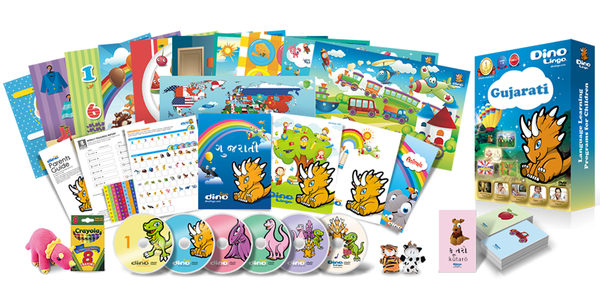 Gujarati for kids Deluxe set - Dino Lingo Checkout