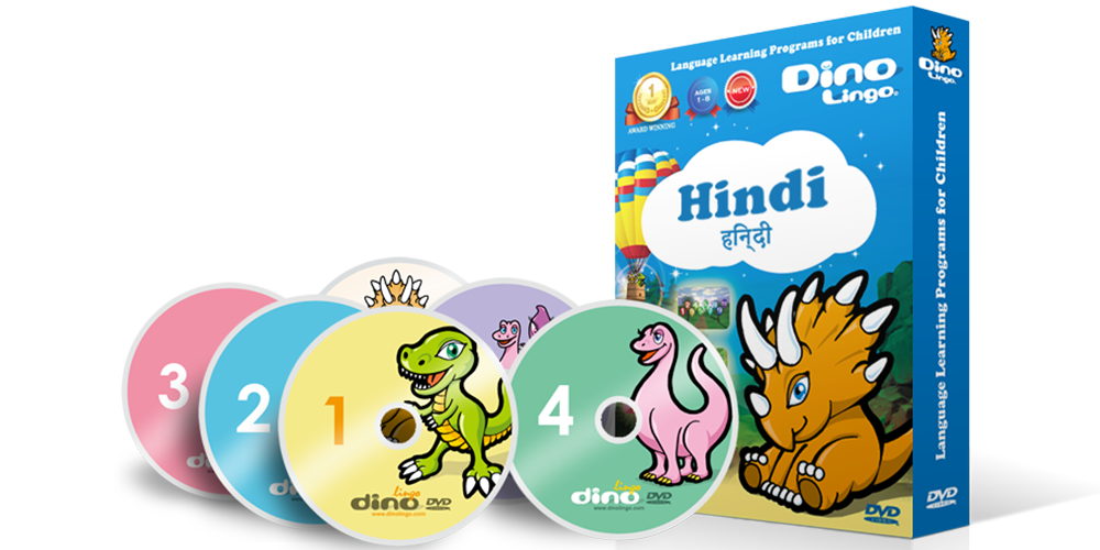 Hindi for kids DVD set - Dino Lingo Checkout