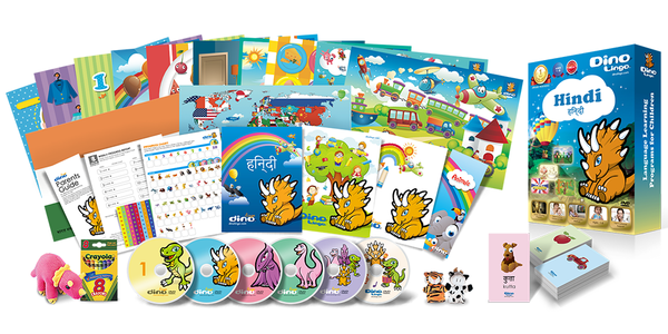 Hindi for kids Deluxe set - Dino Lingo Checkout