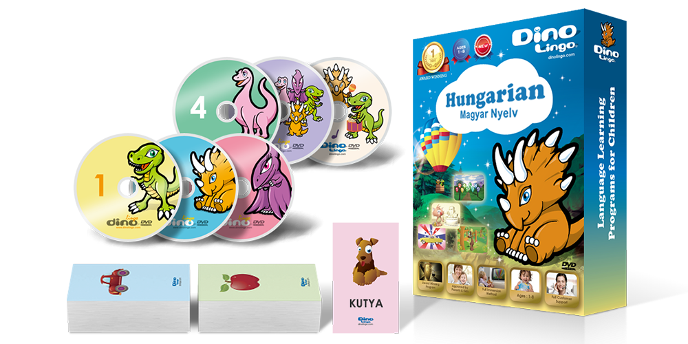 Hungarian for kids Standard set - Dino Lingo Checkout
