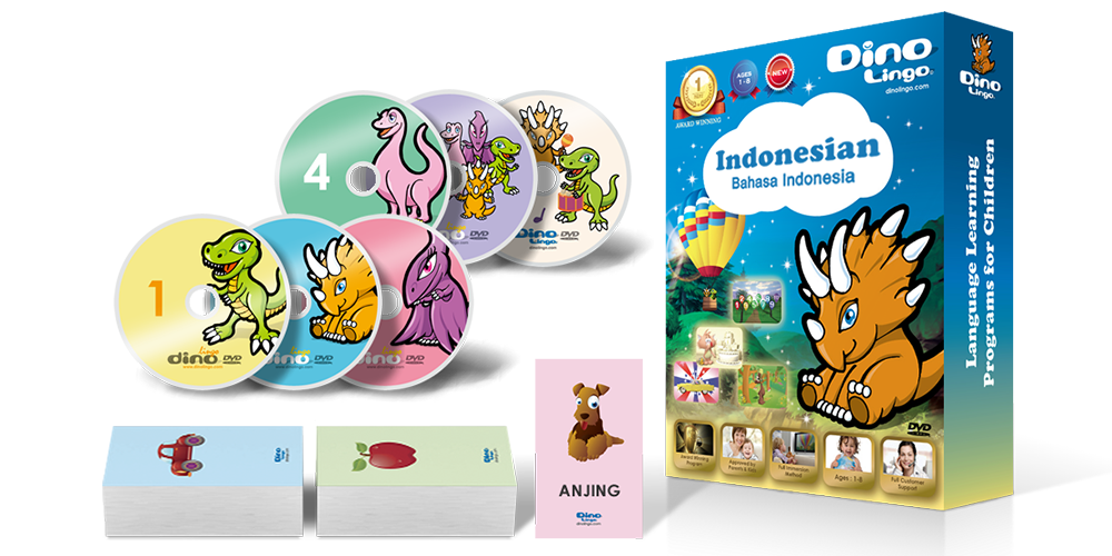 Indonesian for kids Standard set - Dino Lingo Checkout