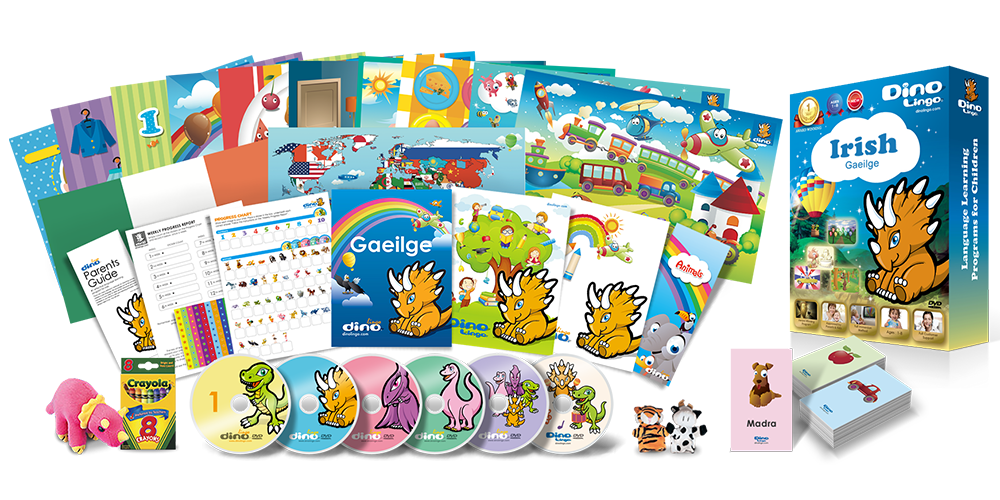 Irish for kids Deluxe set - Dino Lingo Checkout