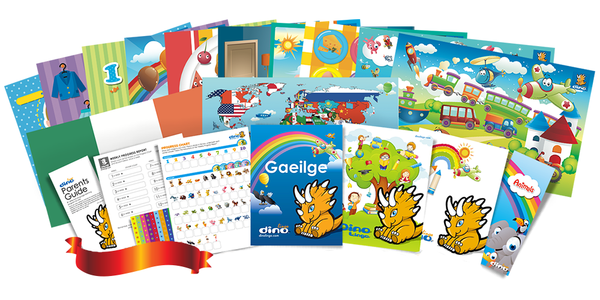 Irish for kids Poster & Book set - Dino Lingo Checkout