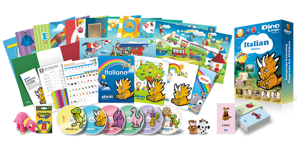Italian for kids Deluxe set - Dino Lingo Checkout