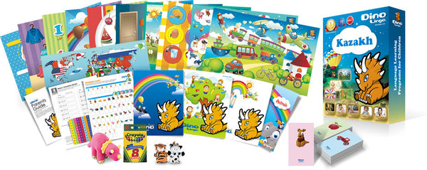 Kazakh for kids Print set - Dino Lingo Checkout