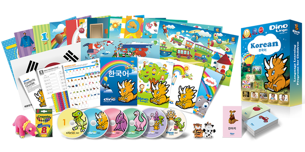 Korean for kids Deluxe set - Dino Lingo Checkout