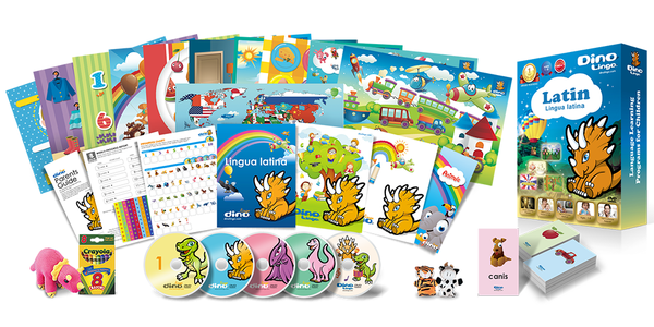 Latin for kids Deluxe set - Dino Lingo Checkout