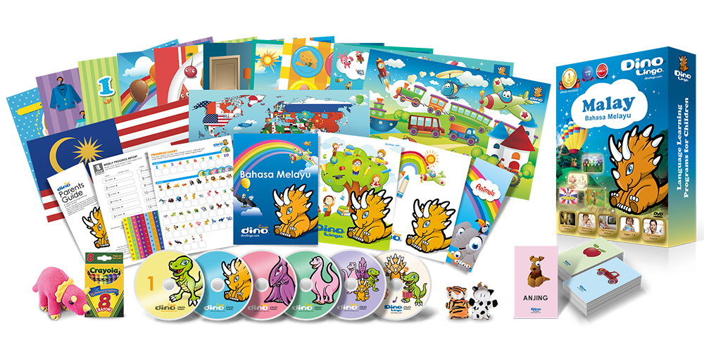 Malay for kids Deluxe set - Dino Lingo Checkout