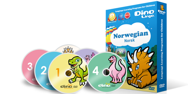 Norwegian for kids DVD set - Dino Lingo Checkout