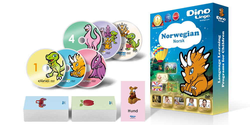 Norwegian for kids Standard set - Dino Lingo Checkout