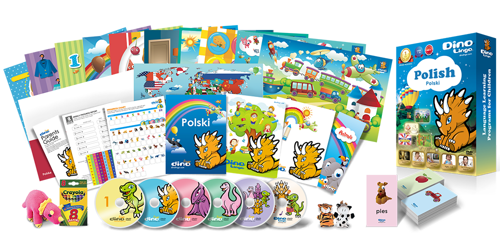 Polish for kids Deluxe set - Dino Lingo Checkout