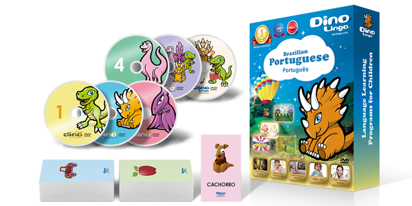 Portuguese for kids Standard set - Dino Lingo Checkout